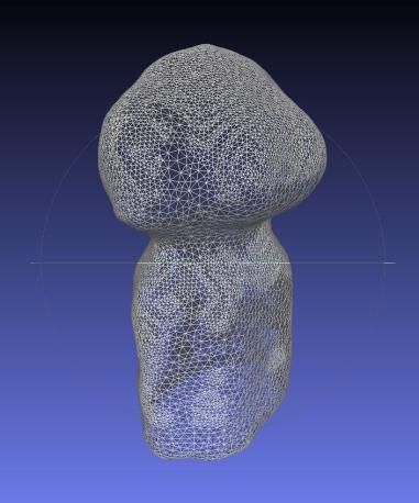 Presa del modello in 3D in formato obj